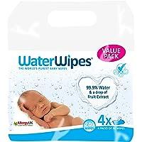 WaterWipes Baby Wipes Sensitive Skin, 4 packs x 60 wipes (240 wipes)