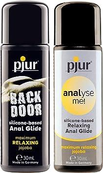 Pjur Anal Pack (base de silicona) 2 x 30 ml variantes lubricantes anales: Amazon.es: Salud y cuidado personal