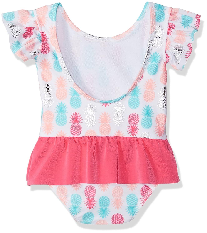 Sol Swim Little Girls Solo Swim-Toddler-Sugar Pineapples One Piece Swimsuit