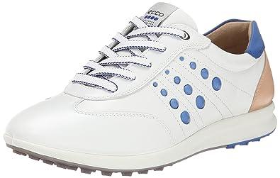 ECCO Women's Street EVO One Luxe Golf Shoe,White/Mazarine Blue,39 EU