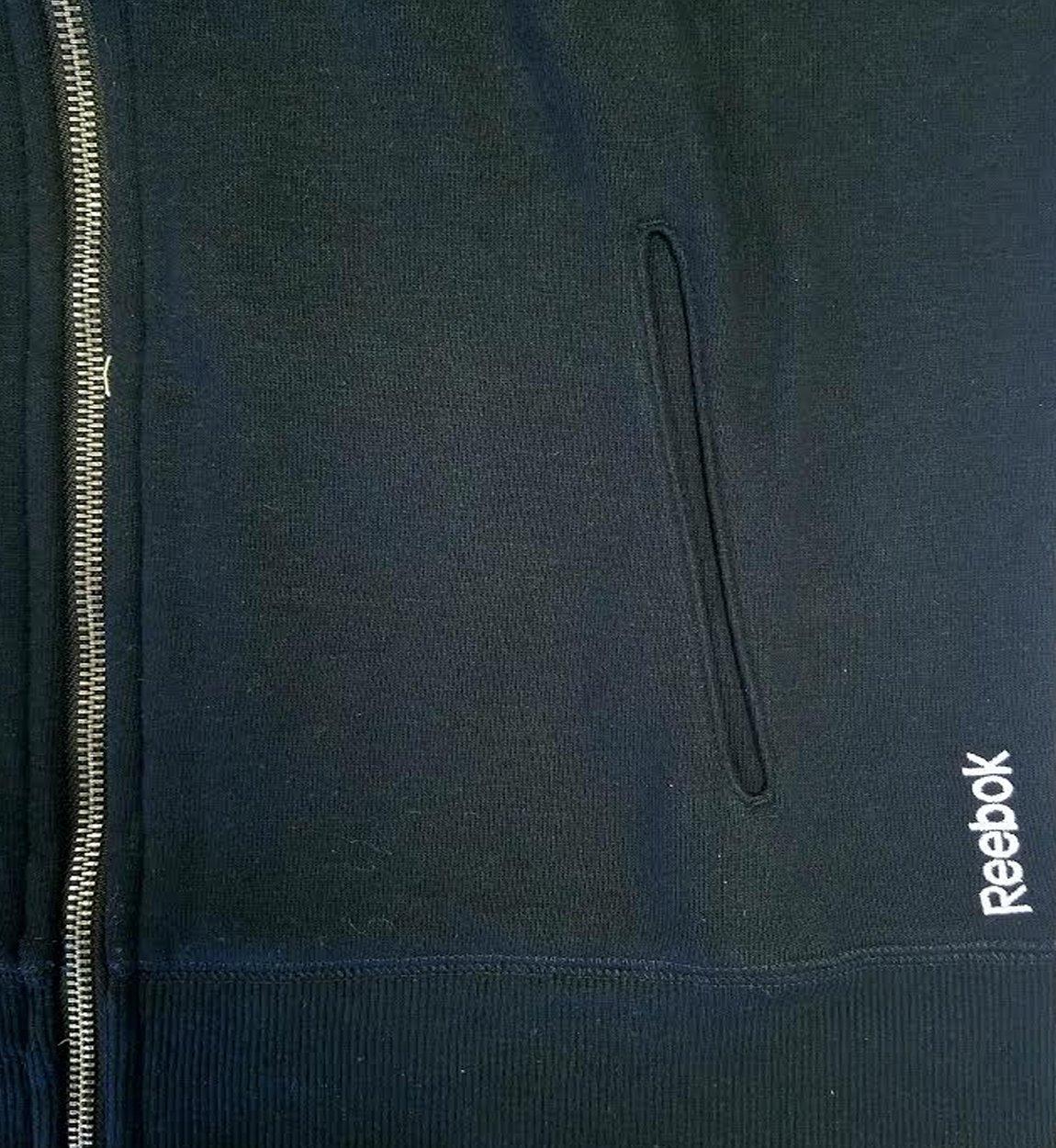 RW315813 Reebok Womens Stripe Trim Full Zip Dolman Hood