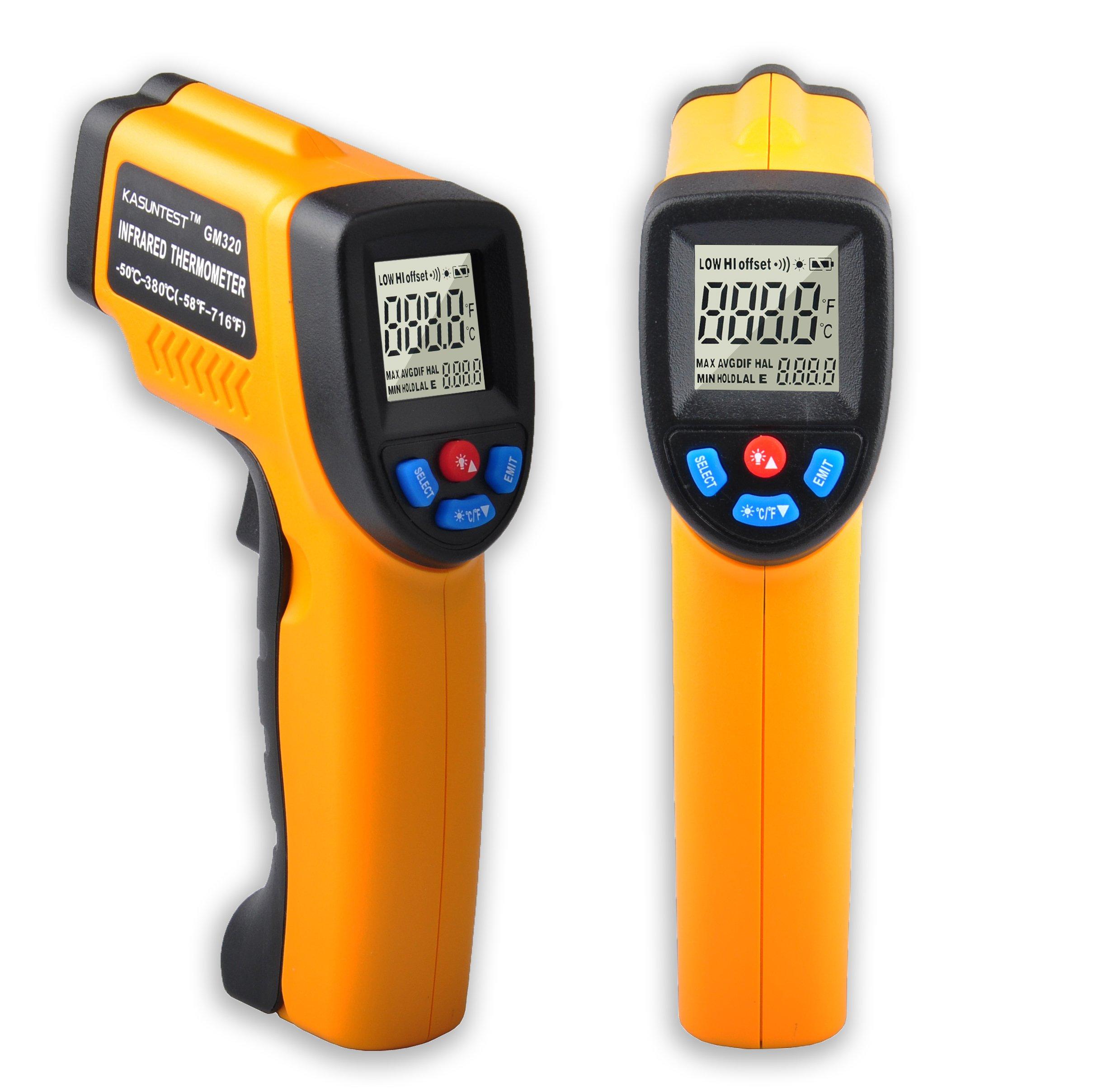 KASUNTEST Digital Photo Laser Tachometer Non Contact RPM Meter Digital Speedometer Speed Measurer Range 2.5-99999 RPM With Carrying Bag KT-900
