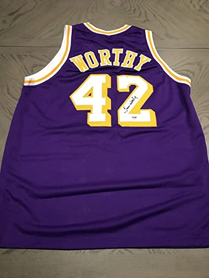 size 40 b83f5 341ec James Worthy Autographed Signed Los Angeles Lakers ...