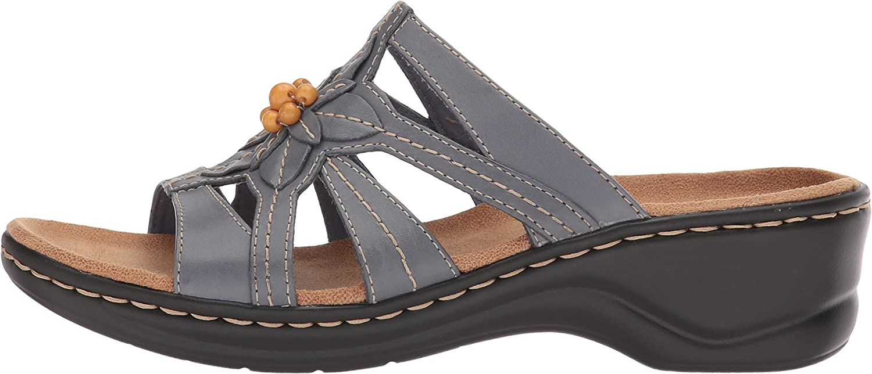Clarks Women's Lexi Myrtle Sandal, BlueGrey Leather, 12