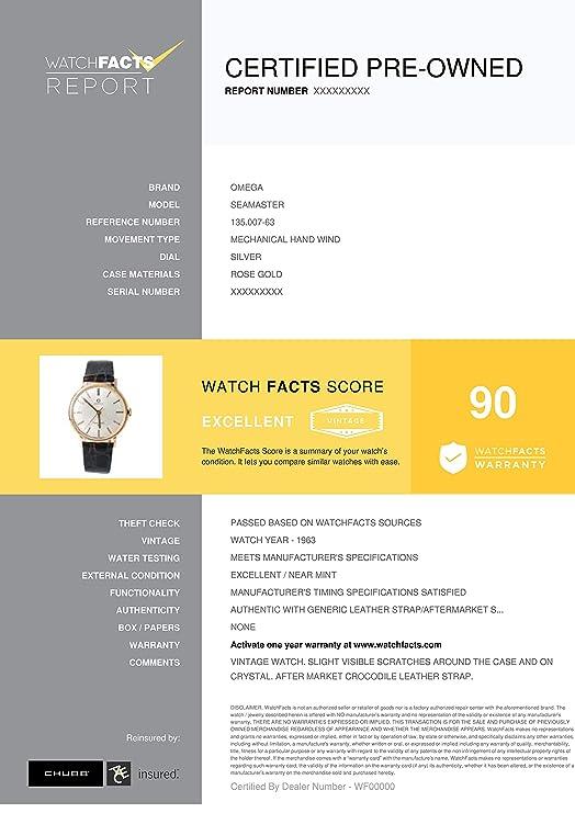 Omega Seamaster 135.007-63 - Reloj mecánico de Cuerda Manual ...