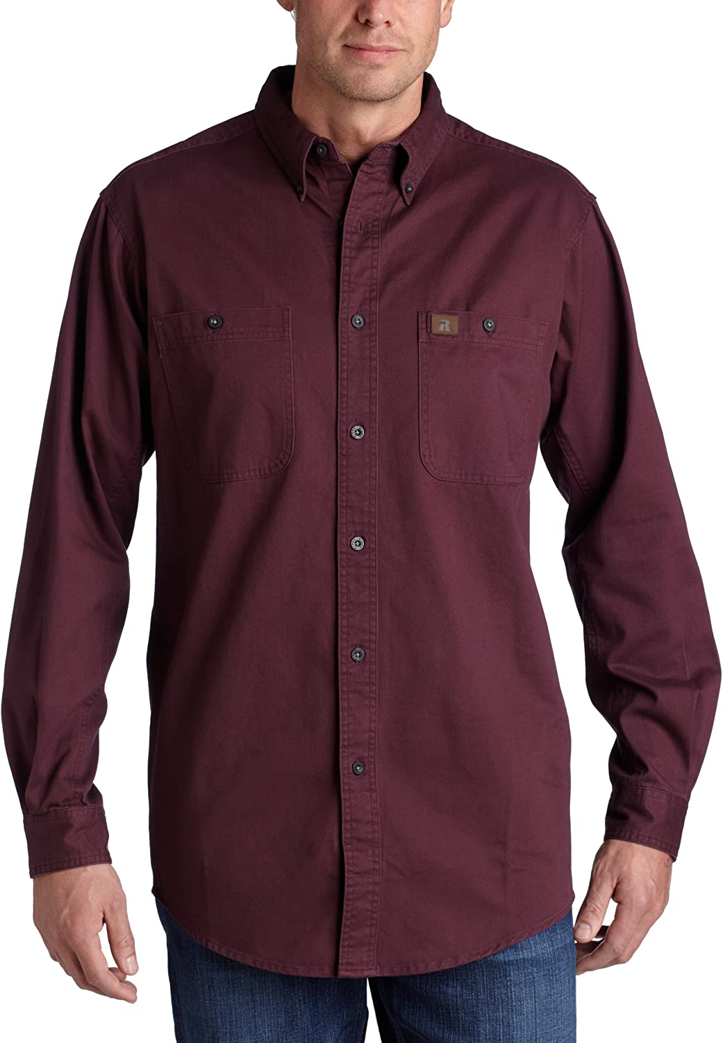 Wrangler Riggs Workwear Men's Logger Twill Long Sleeve Work Shirt: Clothing