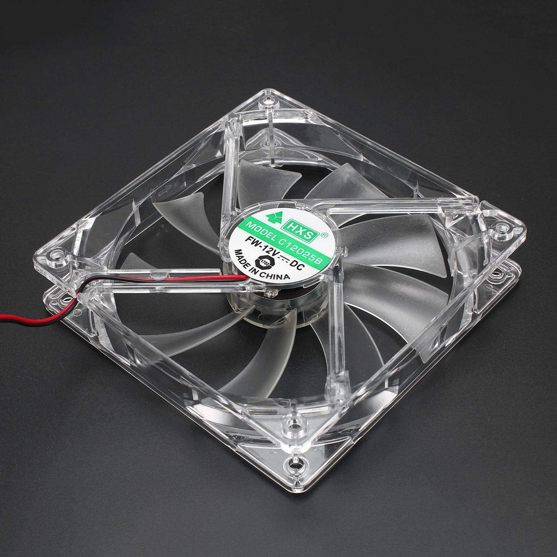 Computer Fan PC Computer Fan Quad 4 LED Light 120mm PC Computer Case Cooling Fan Mod Quiet Molex Connector Easy Installed Fan 12V