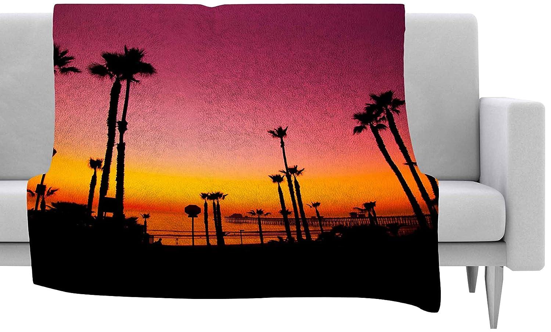 40 by 30-Inch 40 X 30 Kess InHouse Juan Paolo Pacific Dream Magneta Orange Fleece Throw Blanket