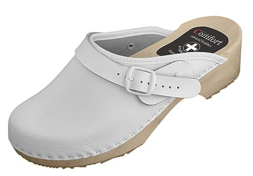 buy popular e12b7 0f97e Natural Line Zuecos de Piel Piel Piel para Mujer Zapatos y fdd1c6