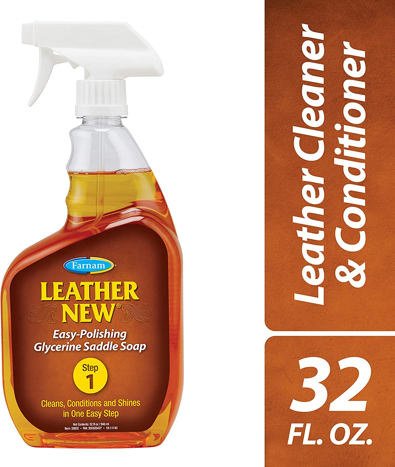Farnam Leather New Easy-Polishing Glycerine Saddle Soap, 32 fl. oz., Model Number: 32602
