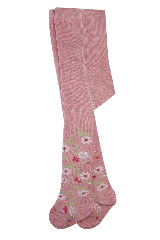 Weri Spezials Baby Strumpfhose in Rose-Melange Kleine-Blumen Motiv