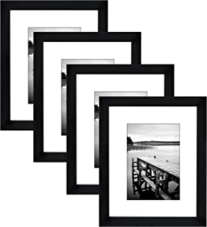Amazoncom 8x10 Black Picture Frame Made to Display Pictures 5x7