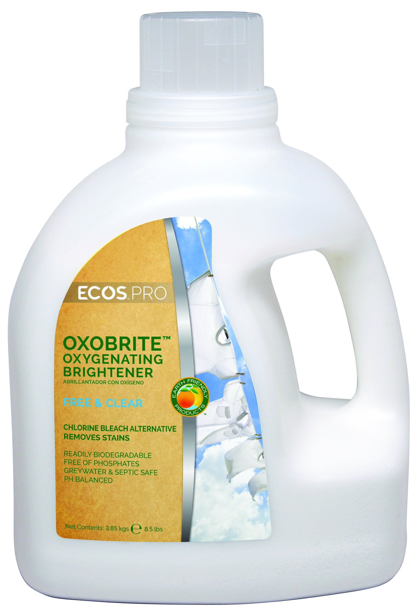 Earth Friendly Products Proline PL9892/04 OxoBrite Oxygenating Whitener and Brightener, 8.5lbs Handle (Case of 4)