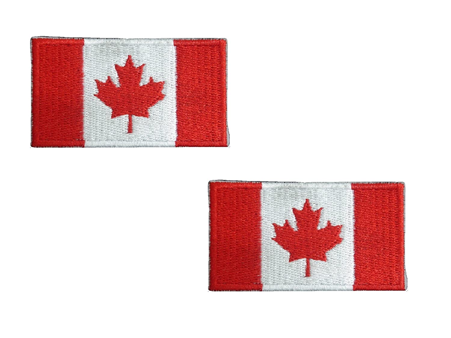 Amazon small pieces canada flag iron on patch applique