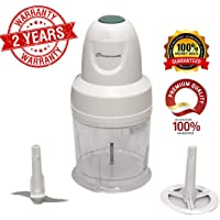 Chefware Coral Electric 250 watt Vegetable and Fruit Chopper, 250 W Copper Motor, White