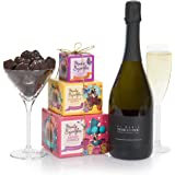 Mother's Day Prosecco and Chocolate Truffles Gift Basket - Wine Gifts For Her - Ladies Hampers & Gift Hampers for Birthday Gifts and Hamper