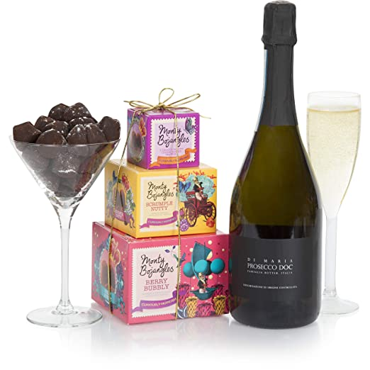 Mothers Day Prosecco And Chocolate Truffles Gift Basket