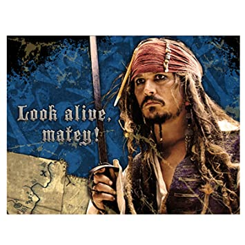 amazon com pirates of the caribbean party invitations 8 count toys