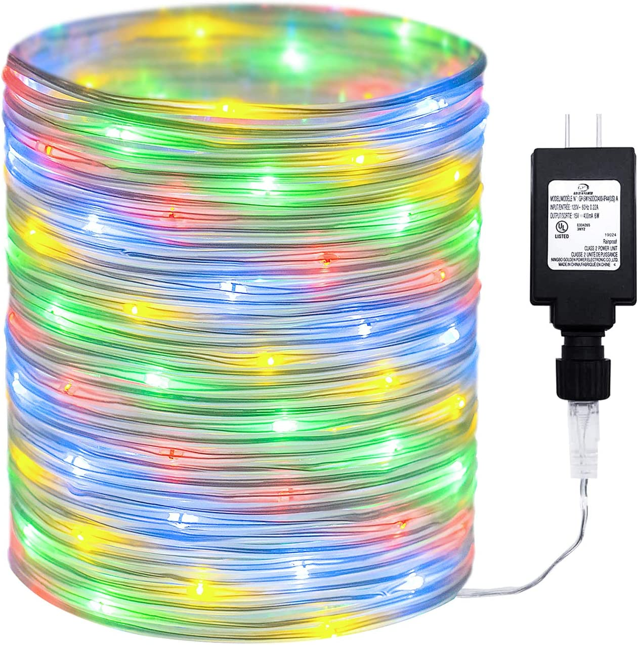 Amazon Com 98ft Outdoor Led Rope Lights String With 300 Leds Waterproof Decoration Starry Fairy Lights Plug In For Bedroom Home Garden Patio Decor 98ft Multi Home Improvement