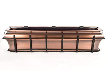 Amazon Com H Potter Ogee Window Box Flower Copper Finish Planter