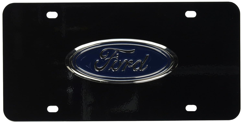 INC Au-Tomotive Gold Chrome Pearl Logo On Black License Plate for Acura