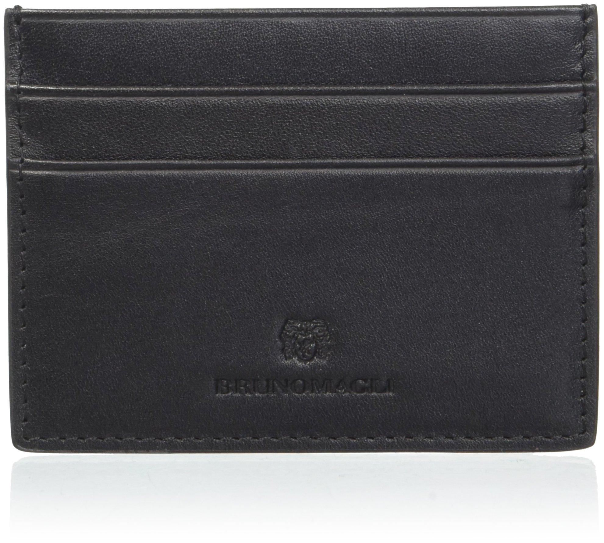Bruno Magli Men's Flat Card Case Accessory, -black, One Size