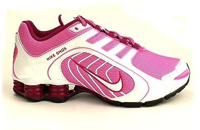 bb0d871b97a4 Nike Shox Navina - Womens Red Violet White Black Bright Magenta Size 7.5