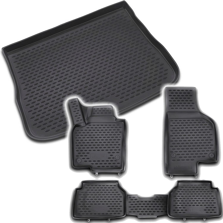 Fußmatten Matte Wanne Set Gummi Gummifußmatten Kofferraumwanne VW Tiguan 2016