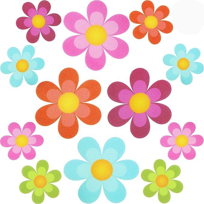 """20Pcs 4/"""" Flower Safety Treads Non-Slip Applique Sticker Tub Strip Floor Decal US"""