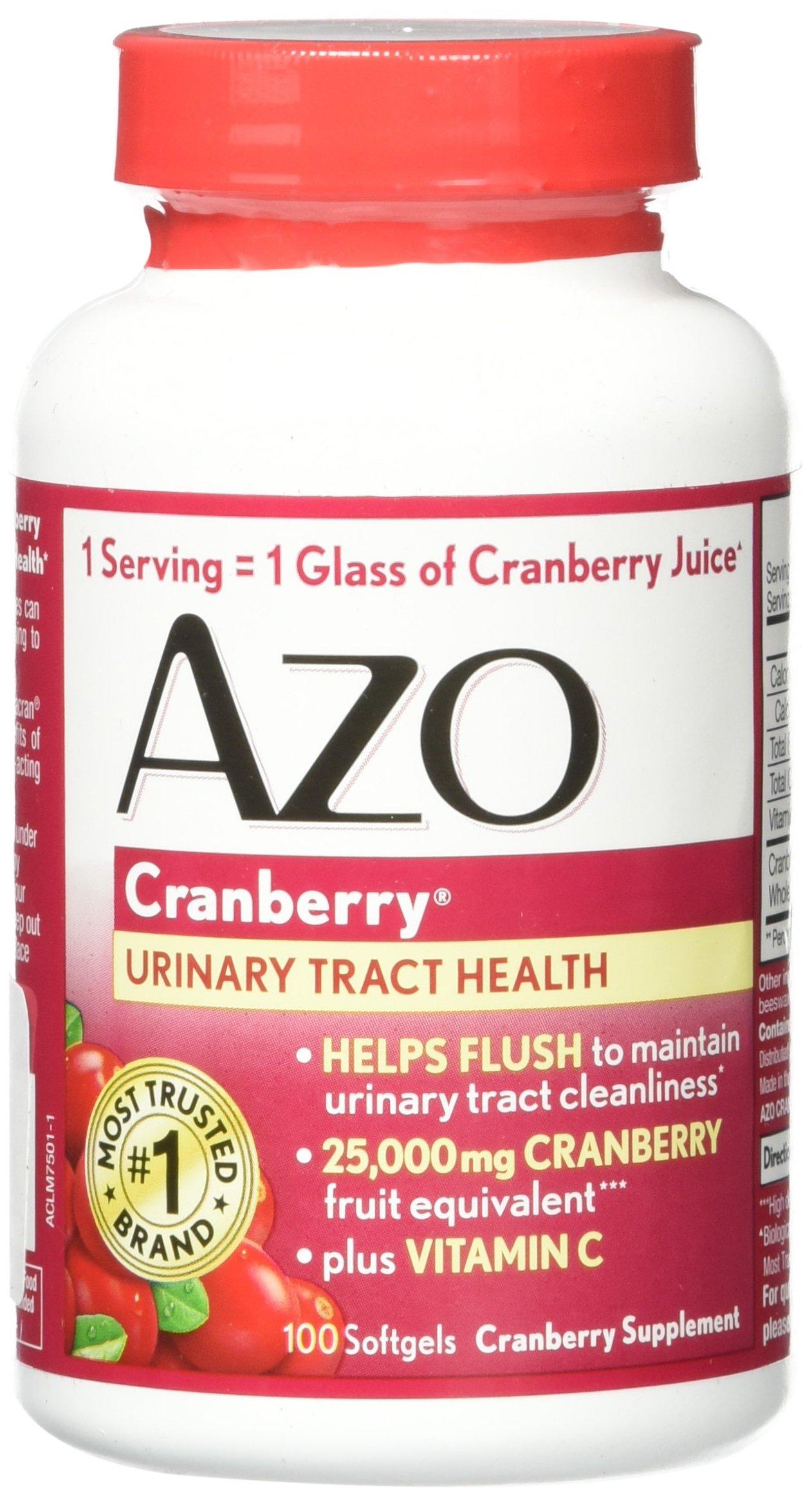 AZO Softgels, Cranberry, 2 Count
