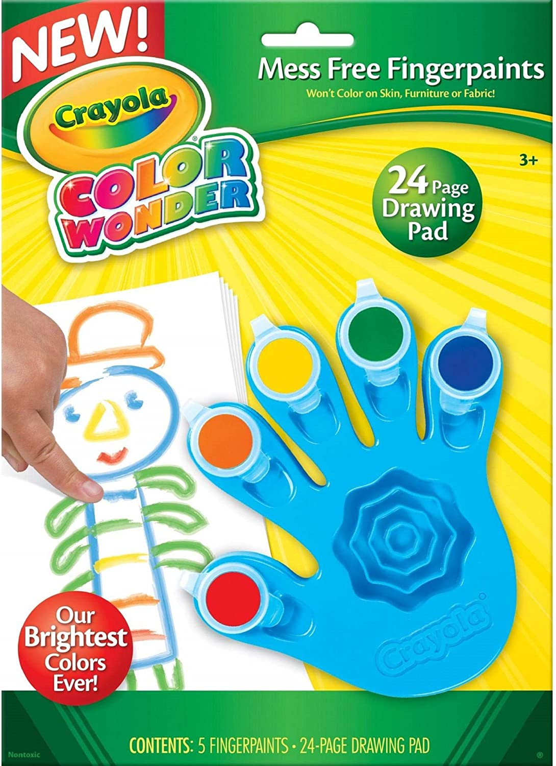 Crayola, Color Wonder Mess Free Fingerpaints and Paper, Art Tools, Great for Travel: Toys & Games