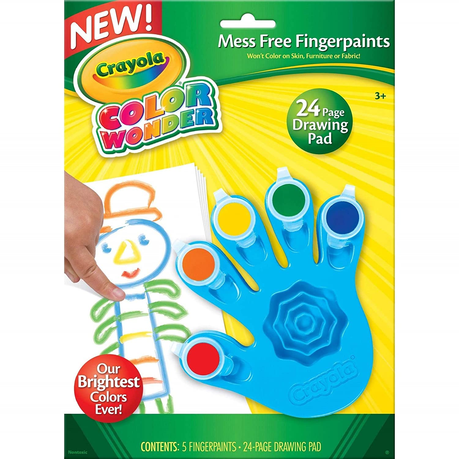 B001KW05ZW Crayola, Color Wonder Mess Free Fingerpaints and Paper, Art Tools, Great for Travel 81ZRycCsO8L