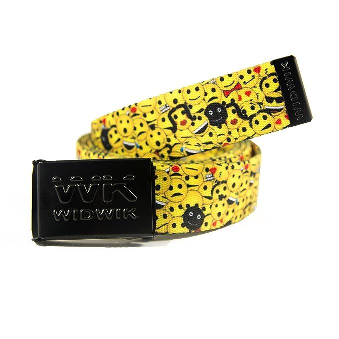 WK WIDWIK Cinturón de Caras Felices Emoticonos - divertido cinto para niños y adultos