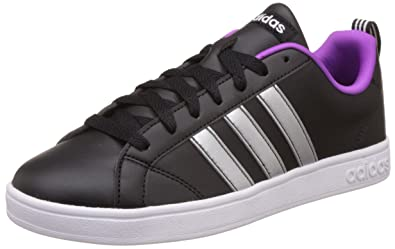 timeless design 17afe cf41e adidas neo Womens Advantage Vs W Cblack, Msilve and Ftwwht Sneakers - 8 UK