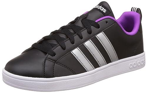 adidas neo Women s Advantage Vs W Cblack, Msilve and Ftwwht Sneakers - 8 UK  518331dca7