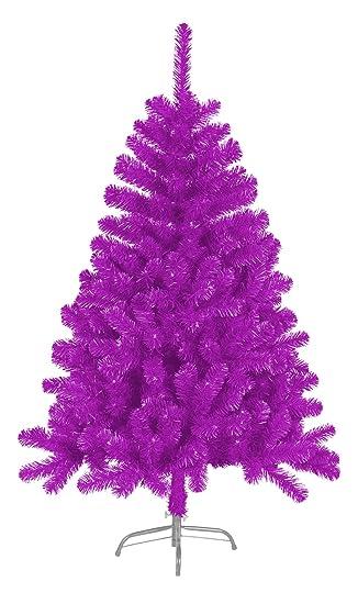 Künstlicher Weihnachtsbaum Tannenbaum 150cm mit Ständer pink grün violett