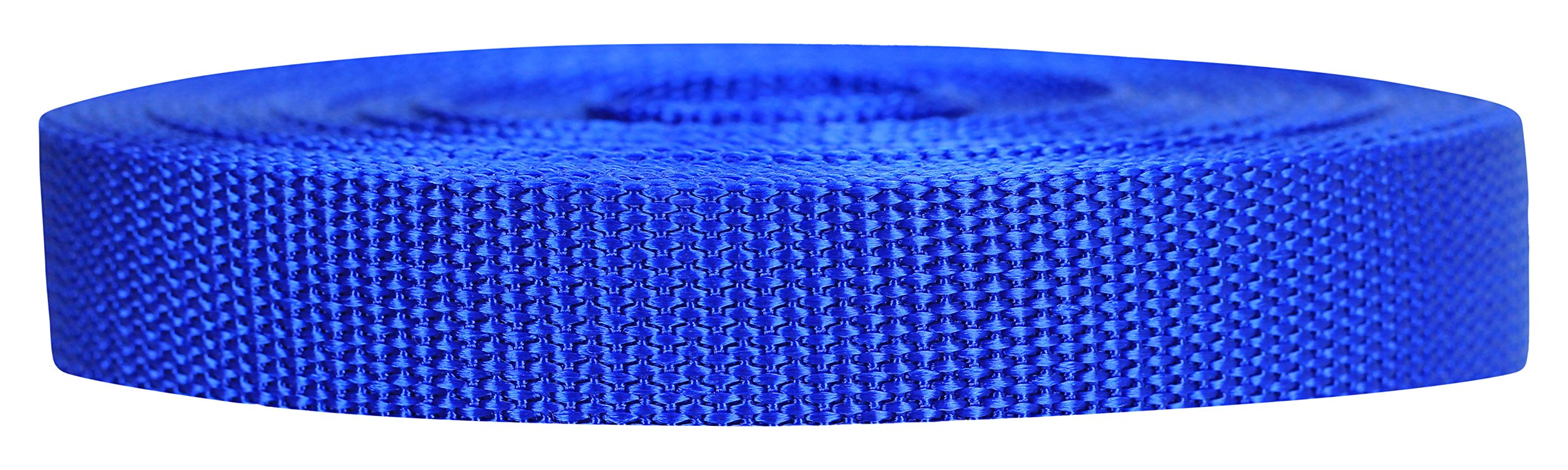 Strapworks Heavyweight Polypropylene Webbing - Heavy Duty Poly Strapping for Outdoor DIY Gear Repair, 3/4 Inch x 25 Yards, Royal Blue by Strapworks