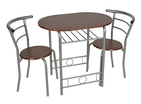 ts-ideen 3er Set Essgruppe Esstisch 3-teilig Küchentisch mit ...
