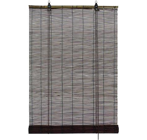 Solagua 6 Modelos 14 Medidas de estores de bambú Cortina de Madera persiana Enrollable (90 x 135 cm, Marrón): Amazon.es: Hogar