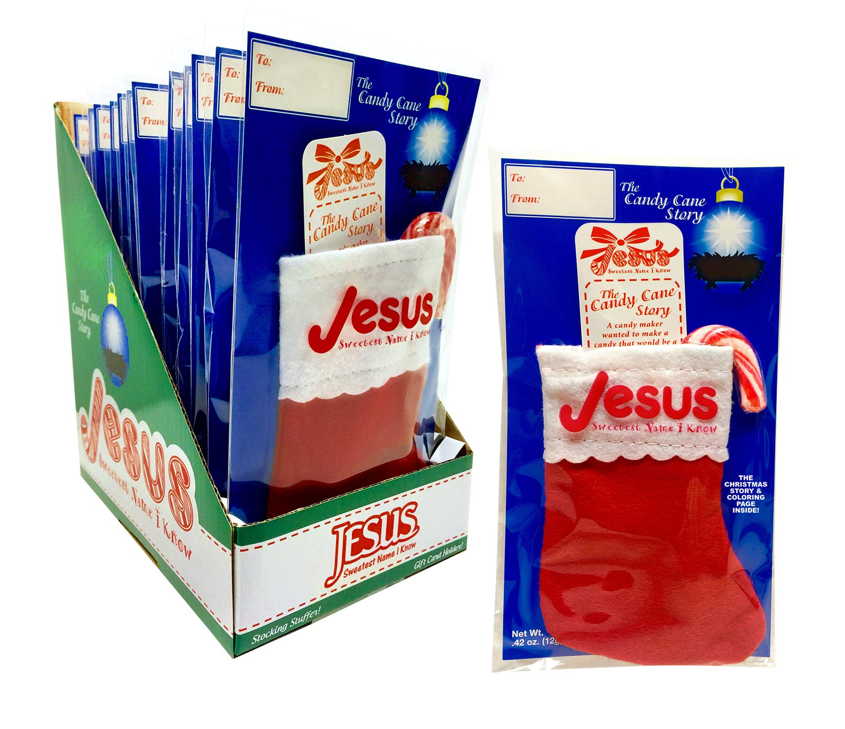 The Candy Cane Story Stocking Set by Scripture Candy