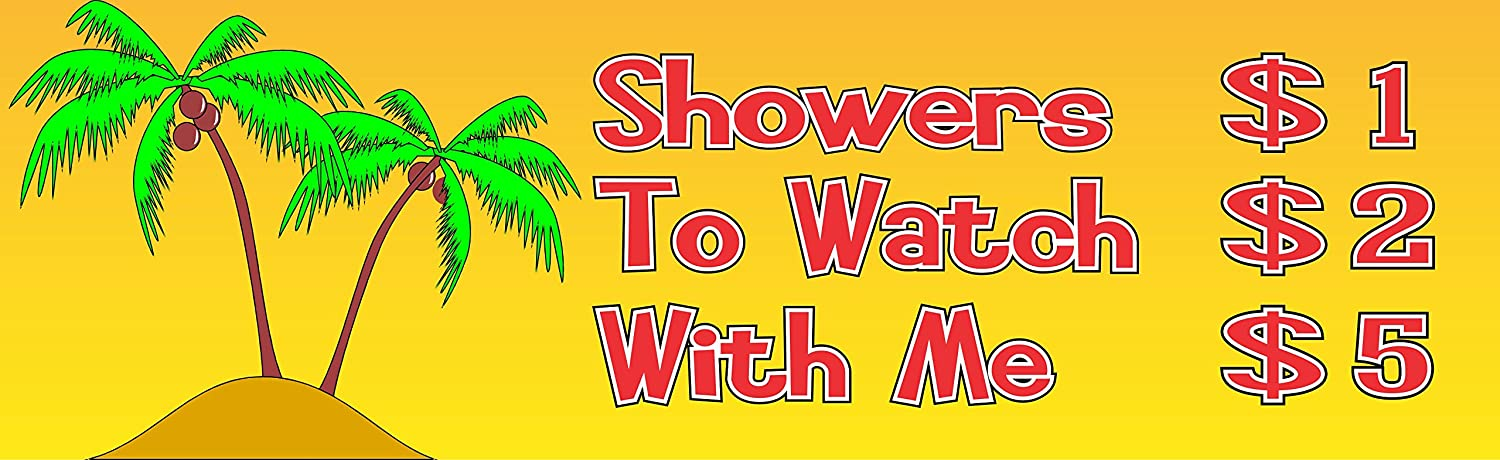 tropical islandシャワー価格リストセクシーfunny sign in yellow with
