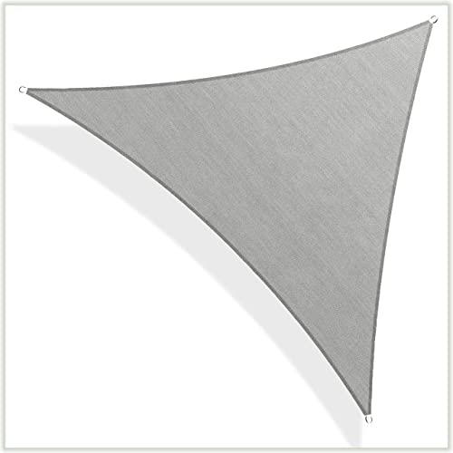 ColourTree CTAPRT16 Custom Size Order to Make 15' x 22' x 26.6' Grey Right Triangle Sun Shade Sail Canopy Mesh Fabric UV Block