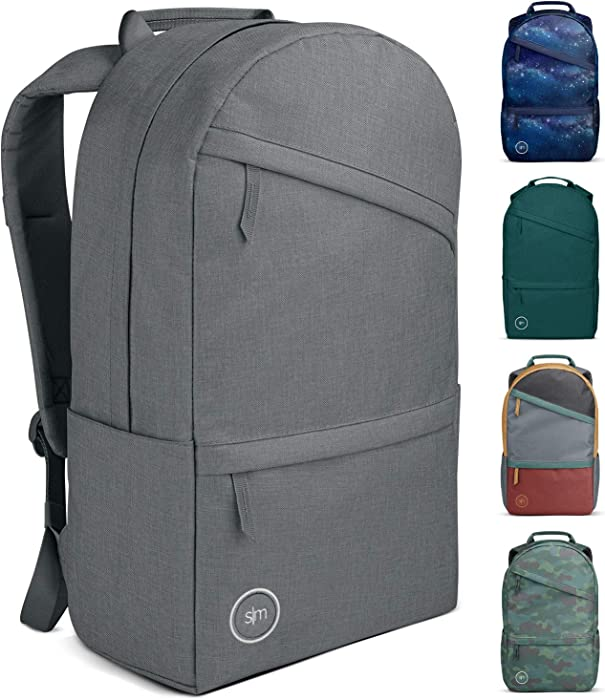 Simple Modern Legacy Backpack with Laptop Compartment Sleeve - 25L Travel Bag for Men & Women College Work School -Slate