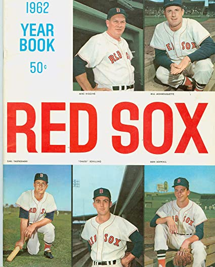 93402730e Image Unavailable. Image not available for. Color: 1962 Red Sox Yearbook  Excellent