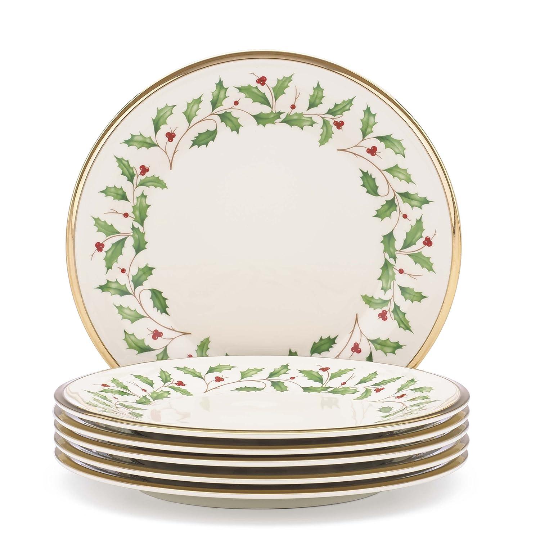 Lenox 835218 Holiday Salad Plates, Set of 6