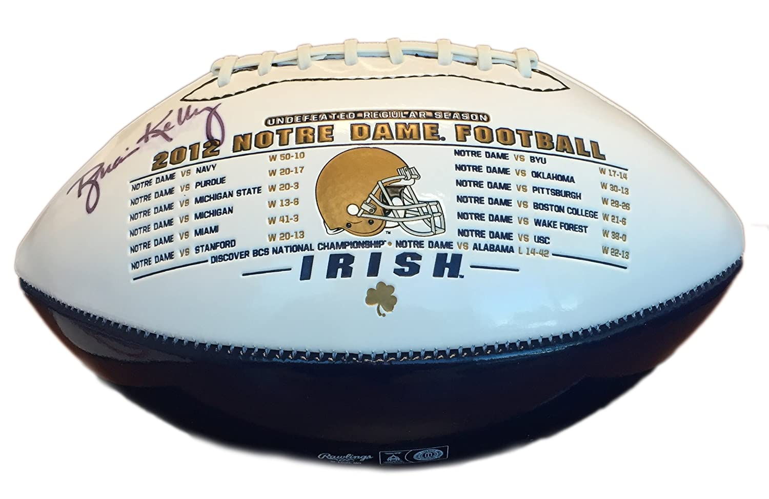 Brian Kelly Autographed 2012 Notre Dame Commemorative Rawlings Football