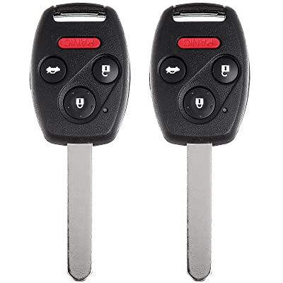 Pack of 2 ECCPP Replacement fit for Uncut 313.8MHz Keyless Entry Remote Key Fob Ignition Key Fob Honda Accord CR-V Element OUCG8D-380H-A