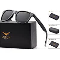 Mens Sunglasses Polarized Womens: UV 400 Protection,by LUENX with Case