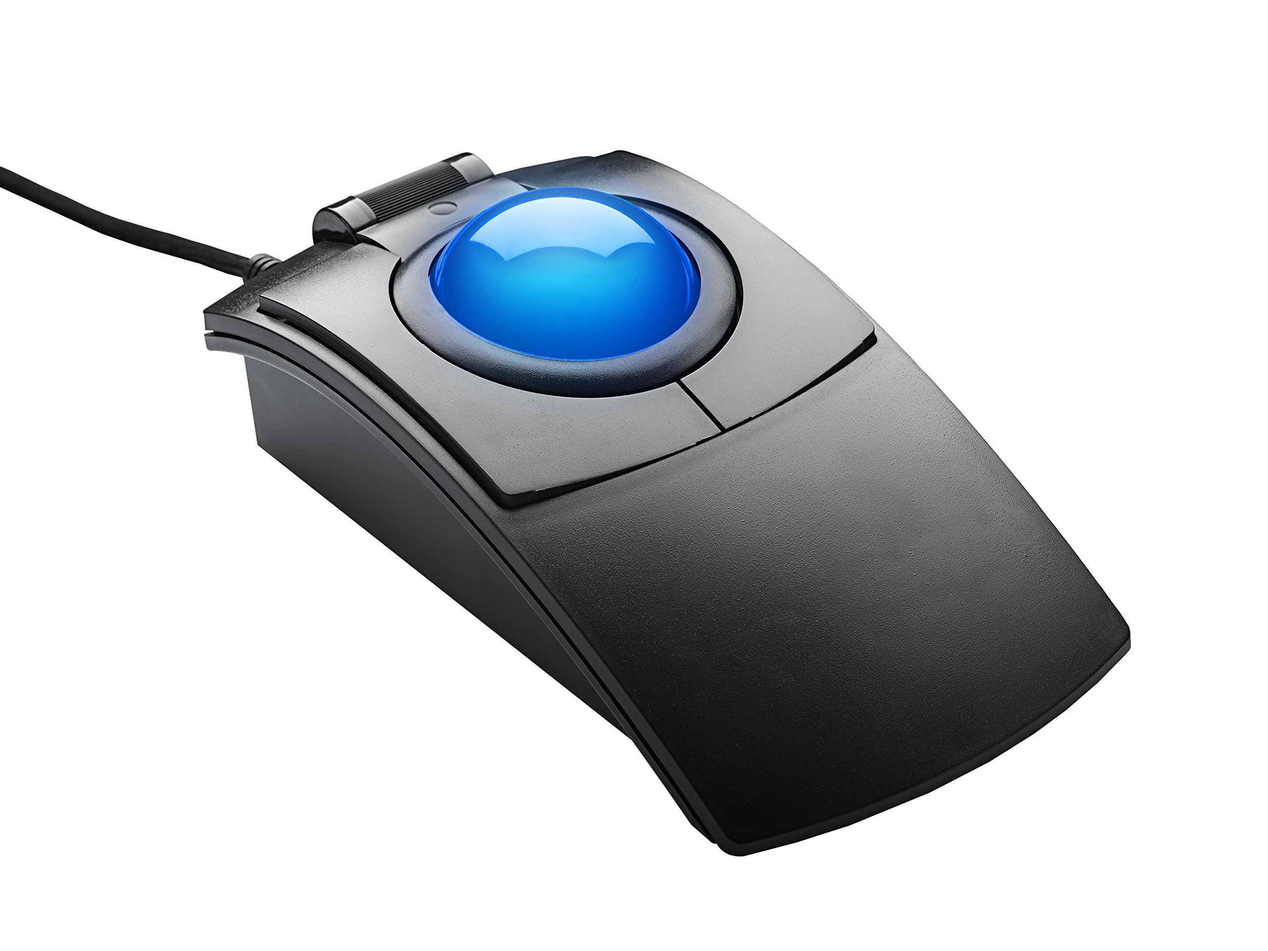 CST2545-5W(GL) (L-Trac Glow) USB Wired Ambidextrous High Performance Laser Ergonomic 5-Button Backlit Trackball (Black) - Made in the USA