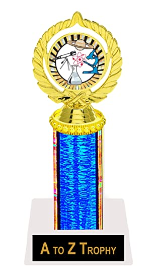 Science Trophy Awards 9quot School Academic Education Trophies Free Engraving Color Choice